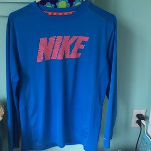 This is a long sleeved Nike athletic shirt.
